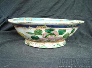 清--粉彩果纹碗7111-收藏网