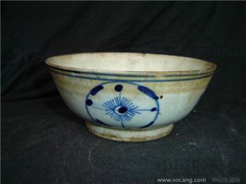 清--青花团碗-收藏网