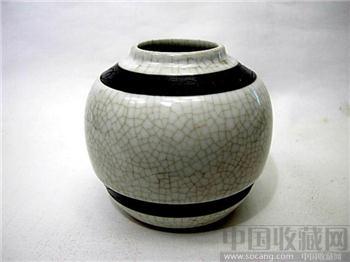 咸丰年--哥釉铁锈斑小罐-收藏网