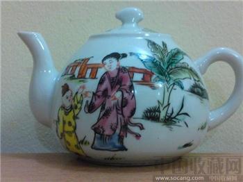 """民国粉彩""""童女童男玩耍""""茶壶《经典雅致靓丽 极具珍藏增值》-收藏网"""