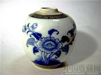 乾隆年---青花花卉小罐-收藏网