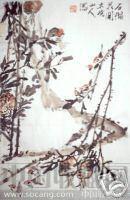 朱光亮花鸟写意画精品之作《石榴花开》-收藏网