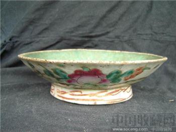 清--粉彩寿桃纹碗7110-收藏网