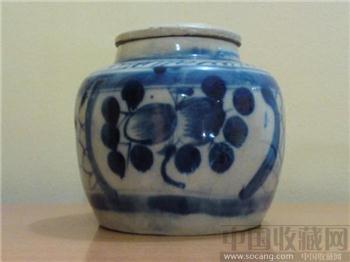 清-康熙、青花罐 口8.7CM 高14CM [珍藏增值]-收藏网