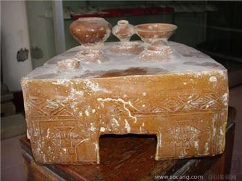 黄釉陶灶-收藏网