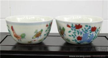清仿成化鸡缸杯-中国收藏网