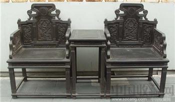 小叶紫檀太师椅-收藏网