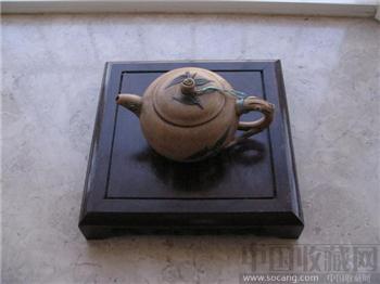 民国吴氏段泥本山绿泥紫砂壶-收藏网