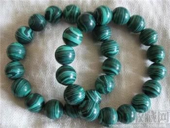 孔雀石珠手链-中国收藏网