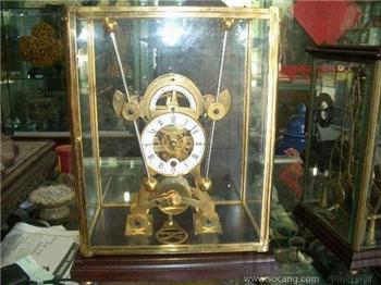 古董鎏金摇摆航海座钟-收藏网