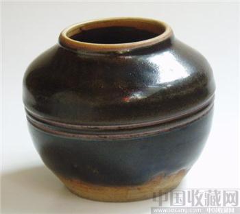 西夏茶叶沫玄纹罐-收藏网