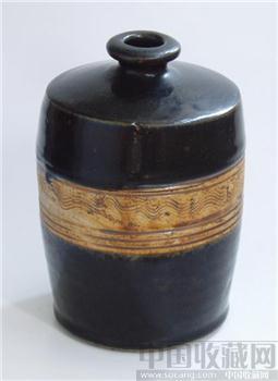 (金、西夏)海水纹梅瓶-收藏网