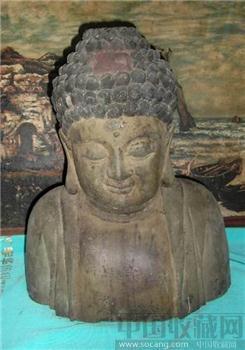 竹石居.老木雕佛像-收藏网