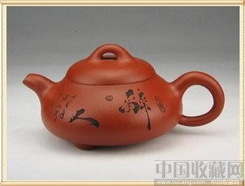 大红袍朱泥矮石瓢-收藏网