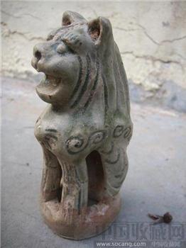 青釉狮子-收藏网