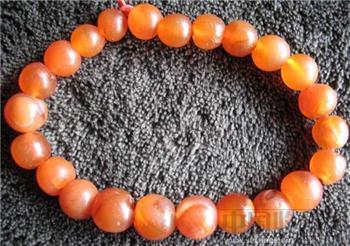 老红玛瑙珠手链  -收藏网