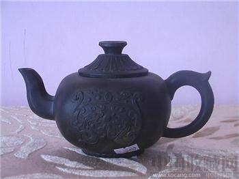 清早邵元祥紫砂方壶-收藏网