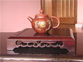 顾绍培渡真金主席像早期紫砂壶 名人茗品小紫砂茶壶 -收藏网