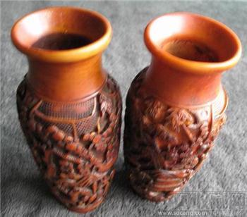 一对树脂花瓶-收藏网