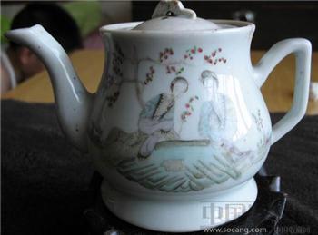 1919年名画家陈炳顺画的仕女粉彩壶-收藏网