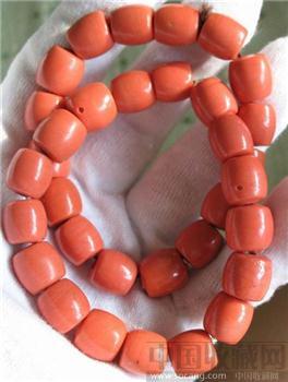 一对老红料珠手链-收藏网