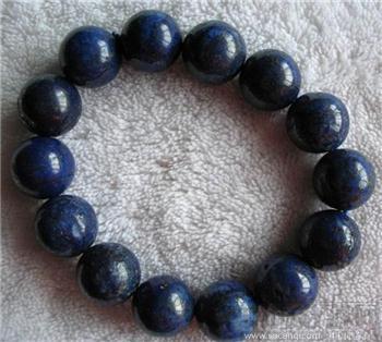 天然青金石珠手链-收藏网
