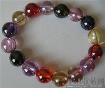 彩色宝石珠手链-中国收藏网