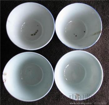 清同治矾红寿字杯两对-收藏网