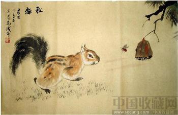 毛诚动物系列国画·秋趣-收藏网