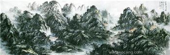 十尺国画《壮丽山河图》-收藏网