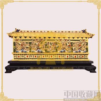 北京特色工艺品景泰蓝金丝镶嵌精致30九龙壁 北京官方礼品-收藏网