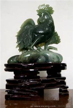 玉雕刻鸡-中国收藏网