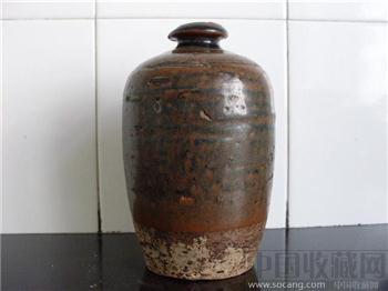 酱釉梅瓶-收藏网