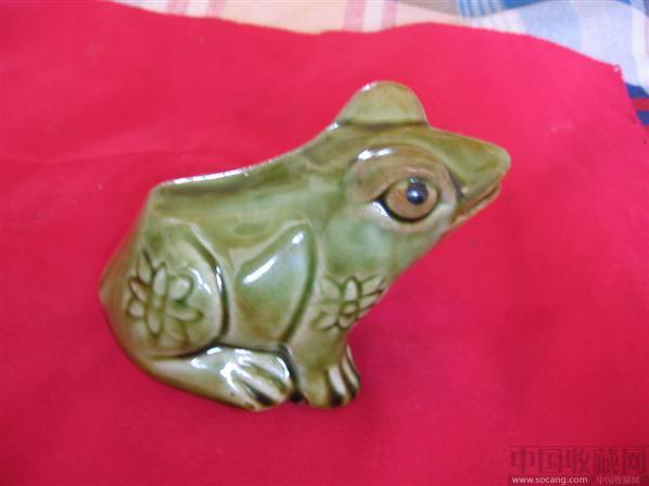 民国青蛙玩具摆件