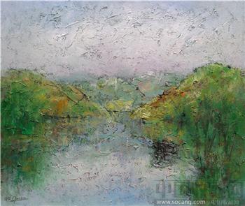 湖上风景-收藏网