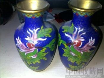 景泰蓝花花瓶-收藏网
