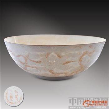 九龙纹白瓷碗-收藏网