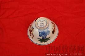 明代:鸡纹斗彩碗的-收藏网