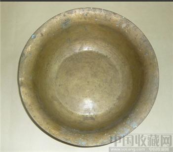 晚清黄铜盆一个-收藏网