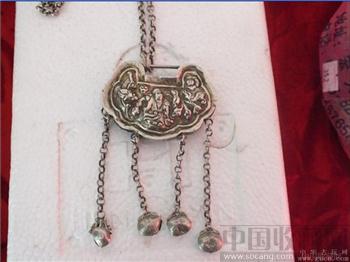 银项链加银锁-收藏网