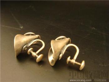 純銀耳環一對-收藏网