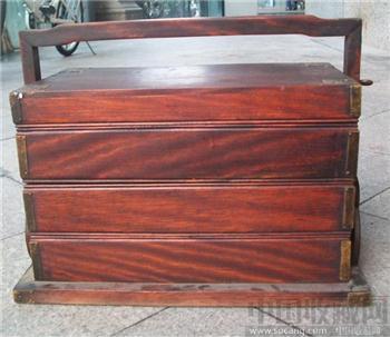红木提盒 -收藏网