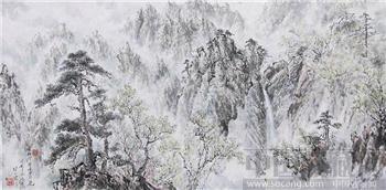 朝鲜画 郑继南 金刚山观音峰-收藏网