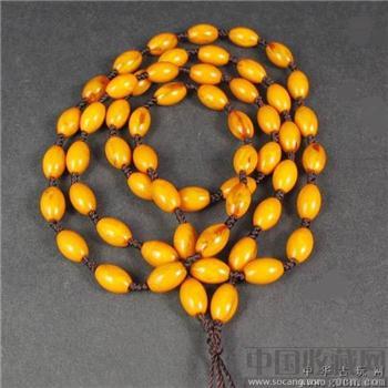 天然老蜜蜡挂绳琥珀项链-中国收藏网
