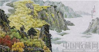 朝鲜画   白虎美术社知名画家  金金京   金刚峡谷-收藏网