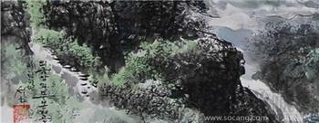 朝鲜画 朝鲜当代名家 石华    外金刚木峰峡谷-收藏网