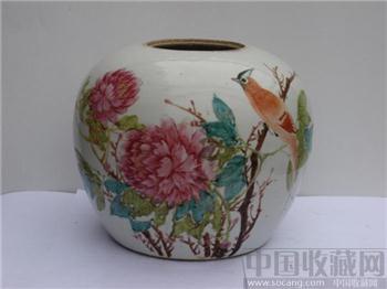 粉彩花鸟罐三个-收藏网