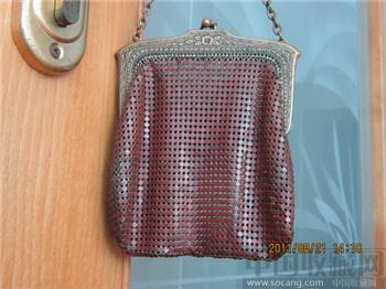 铜溜银花卉纹网格纹链纹兜-收藏网