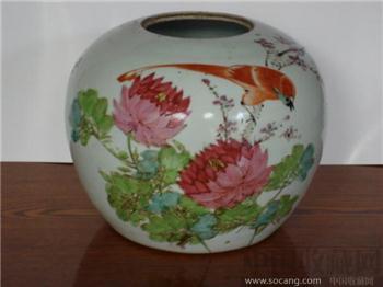 粉彩花鸟罐五个一起走  [全品]-收藏网