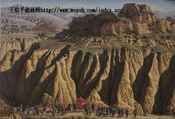 1995年油画《沙漠长城》入编中国风景油画画集;1996
